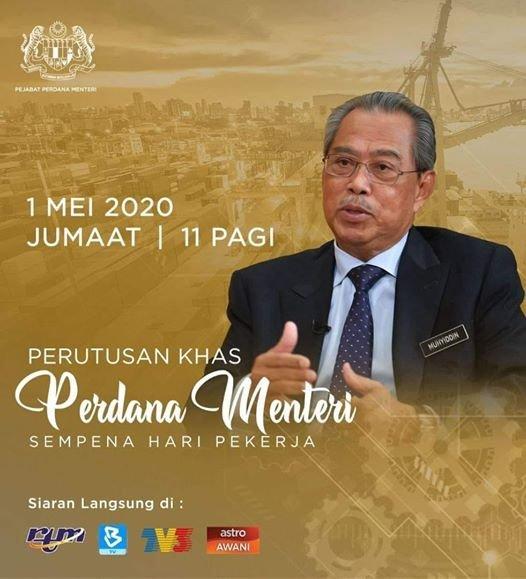 perutusan PM 1 mei 2020